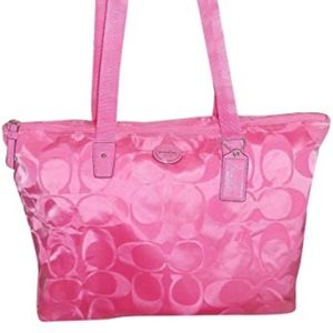 NWOT Coach Packable Tote - Hot Pink